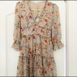Vici Collection Floral Ruffle Dress S Brand New